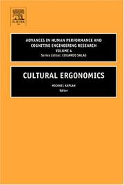 Cover of: Advances in Human Performance and Cognitive Engineering Research, Volume 3 (Advances in Human Performance and Cognitive Engineering Research) |