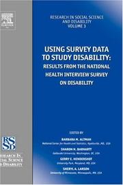 Cover of: Using survey data to study disability |