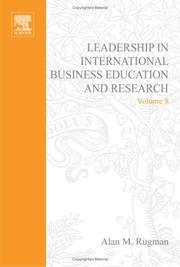 Cover of: Leadership in International Business Education and Research, Volume 8 (Research in Global Strategic Management)