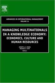 Cover of: Managing multinationals in a knowledge economy