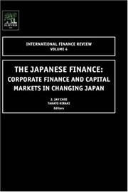 Cover of: The Japanese Finance, Volume 4 |