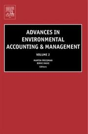 Cover of: Advances in environmental accounting and management |
