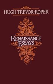 Cover of: Renaissance Essays