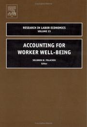 Cover of: Accounting for Worker Well-Being, Volume 23 (Research in Labor Economics)