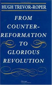 Cover of: From Counter-Reformation to Glorious Revolution