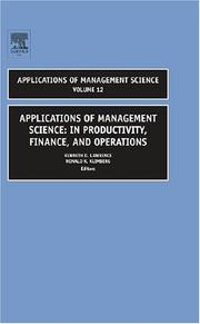 Cover of: Applications of Management Science |