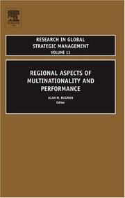 Cover of: Regional Aspects of Multinationality and Performance, Volume 13 (Research in Global Strategic Management)