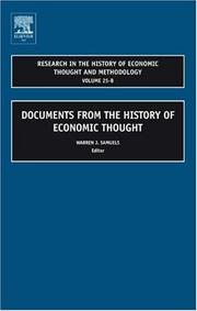 Cover of: Research in the History of Economic Thought and Methodology, Volume 25B