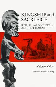 Cover of: Kingship and sacrifice