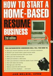 Cover of: How to start a home-based resume service