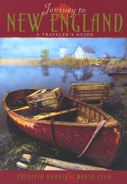 Cover of: Journey to New England | Patricia Harris