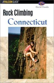 Cover of: Rock climbing Connecticut | David J. Fasulo