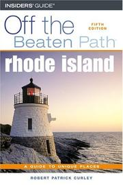 Cover of: Rhode Island Off the Beaten Path, 5th | Robert Curley