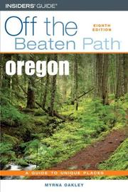 Cover of: Oregon Off the Beaten Path, 8th | Myrna Oakley