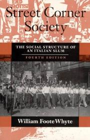 Cover of: Street corner society