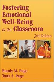 Cover of: Fostering emotional well-being in the classroom