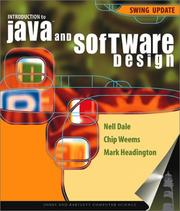 Cover of: Introduction to Java and Software Design: Swing Update