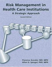 Cover of: Risk Management in Health Care Institutions