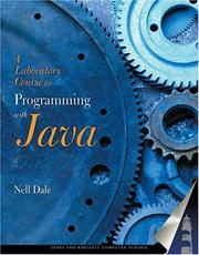 Cover of: A Laboratory Course for Programming in Java (Jones and Bartlett Books in Computer Science.) (Jones and Bartlett Books in Computer Science.)