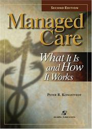 Cover of: Managed Care | Peter R. Kongstvedt