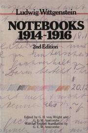Notebooks, 1914-1916 by Ludwig Wittgenstein