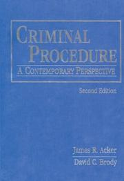 Cover of: Criminal procedure | James R. Acker