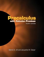 Cover of: Precalculus: With Calculus Previews