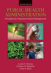 Cover of: Public Health Administration |