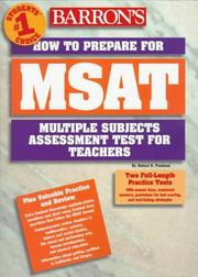 Cover of: Barron's MSAT: how to prepare for the Multiple Subjects Assessment for Teachers