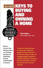 Cover of: Keys to Buying and Owning a Home