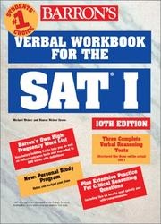 Cover of: Barron's verbal workbook for the SAT I | Mitchel Weiner