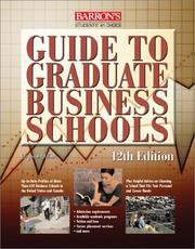 Cover of: Barron's Guide to Graduate Business Schools