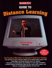 Cover of: Barron's guide to distance learning | Pat Criscito