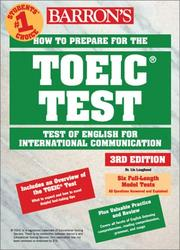 Cover of: Barron's how to prepare for the TOEIC test