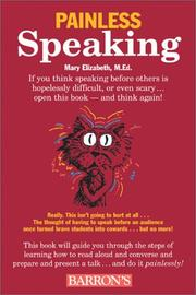 Cover of: Painless speaking