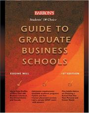 Cover of: Guide to Graduate Business Schools