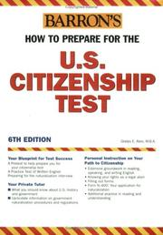 Cover of: Barron's How to prepare for the U.S. citizenship test