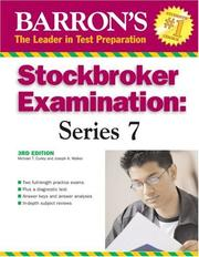 Cover of: Barrons Stockbroker Examination | Michael T. Curley