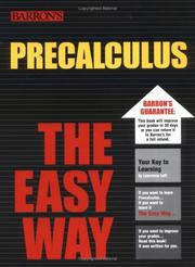 Cover of: PreCalculus the Easy Way | Lawrence Leff