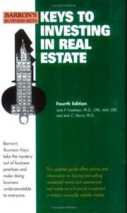 Cover of: Keys to investing in real estate