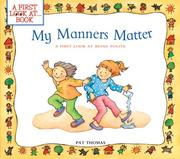 Cover of: My Manners Matter | Pat Thomas