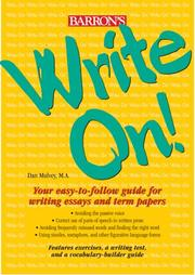 Cover of: Write on! | Dan Mulvey