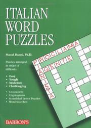 Cover of: Italian Word Puzzles (Foreign Language Word Puzzles)