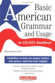 Cover of: Basic American Grammar and Usage