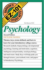 Cover of: Psychology | Don Baucum