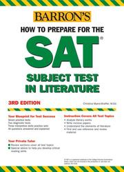 Cover of: Barron's How to Prepare for the SAT Subject Test in Literature