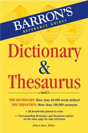 Cover of: Barron's Dictionary & Thesaurus