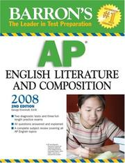Cover of: Barron's AP English Literature and Composition 2008