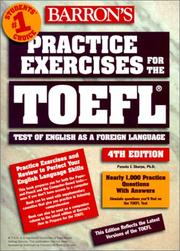 Cover of: Barron's Practice Exercises for the Toefl Test
