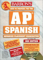 Cover of: How to Prepare for the AP Spanish (Book and Compact Discs) | Alice G. Springer